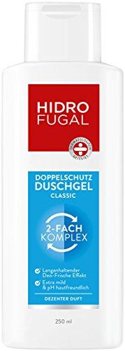 Hidrofugal Duschgel Classic, Doppelschutz Duschgel reduziert Geruchsbildung und beugt geruchsbildenden Bakterien vor, Duschgel reinigt mild mit dezentem Duft, 250 ml