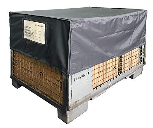 QUICK STAR Gitterbox Abdeckung 125x85x50cm Grau Schutzhaube Abdeckplane Staubschutz