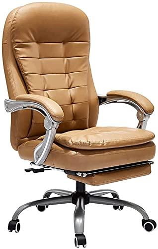 Silla de oficina Silla giratoria Silla de escritorio Ergonómico Silla de oficina for el hogar, sillas de escritorio ejecutivo con reposapiés y reposabrazos acolchados gruesos for la conferencia de la
