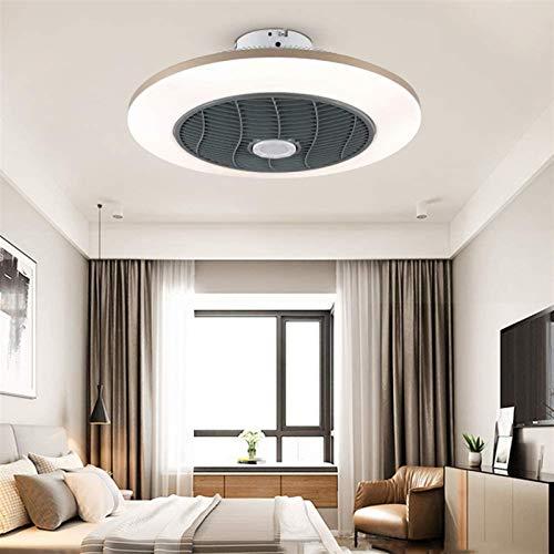 Deckendeckenbeleuchtung , Deckenventilator-Deckenleuchte mit Fernbedienung, dimmbarer LED-Runde Deckenleuchte mit Ventilator und Heizung, Sommer- oder Winterbetrieb, 3 Geschwindigkeiten, für Schlafzim