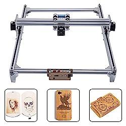 TOPQSC Laser Engraver Engraving Machine, CNC Router Wood Carving Engraving Cutting Machine, DIY Printer Logo Image Marker, 2 Axis Desktop Printer for Leather-Wood-Plastic, 65x50cm, 7000MW