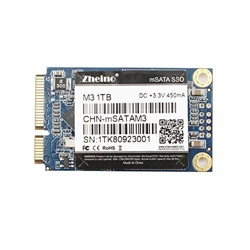 Zheino M3 内蔵型 mSATA 1TB SSD (30 * 50mm) mSATAIII 3D Nand 採用 6Gb/s mSATA ミニ ハードディスク