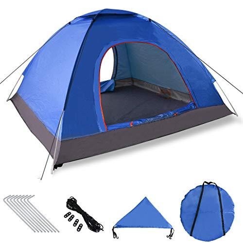 Xddias Pop-up tent 200 cm x 200 cm x 150 cm, draagbare strandtent met SP50+ UV-bescherming voor outdoor sport kamperen wandelen reizen strand 2-4 personen