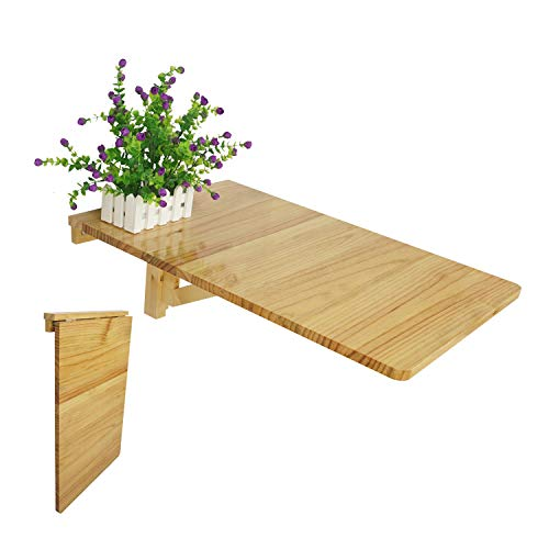 LiRen-Shop JinQi Wall-mounted Drop-leaf Table,Simple and folding,70x45,Color:Natural