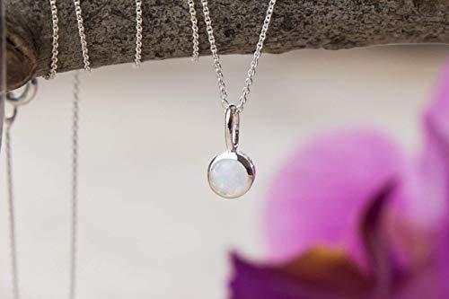 Halskette mit Opal Anhänger 925 silber Damen