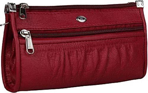 Talat Fashion PU Leather Stylish Wallet/Clutch/Purse for Women & Girls (Red)