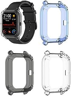 comprar comparacion Starnearby Carcasa compatible para Amazfit GTS Funda protectora transparente media funda concha para Smartwatch, 3 unidades
