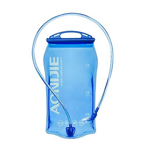 AONIJIE Faltbare 1L/ 1.5L/ 2L/3L Trinkblasen Wasserbeutel PEVA Hydratation Blasen für Camping Wandern Reiten und Klettern (1L)