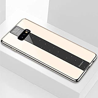 Quan Protection Cover Stylish and Personalized Anti-Fall Mobile Phone Case Protective Case Electroplated Mirror Glass Case...