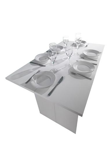 Terraneo EL530 Luis A1 Tavolo Consolle Estensibile, 120 X, Legno_Composito, Bianco, 75 x 120 x 35 cm