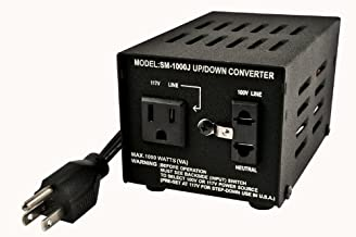 Simran SM-1000J Step Up and Down Japanese Transformer 1000W; Can be used only in 100 and 120 volt countries; Will convert from 120 volt to 100 volt AND from 100 volt to 120 volt.; Fuse protected; Heavy duty continuous use; Power ON/OFF Switch