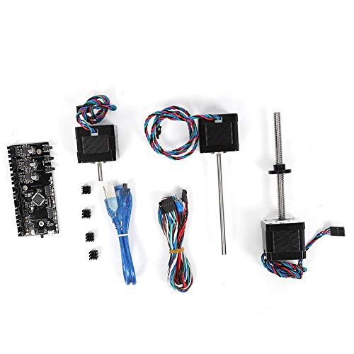 ASHATA 3D Printer Accessories, MMU2.0 Board with Power Signal Wire and Motors Kit Supports Printing in Single Mode with 4 Heat Sink