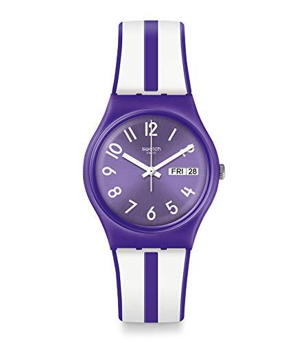 Swatch Reloj Analógico para Mujer de Cuarzo con Correa en Silicona GV701