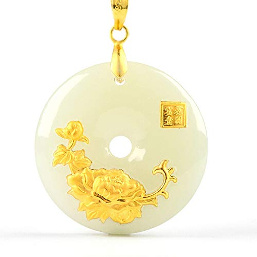 Hetian Jade Safety Button Pendant Jade Ping an Kou Necklace Lovers Lucky Amulet Jewelry Wholesale Chinese Fine Jewelry