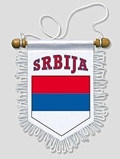 Akachafactory Fanion Mini Drapeau Pays Voiture Decoration Serbie Serbe