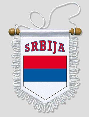 KOO Interactive - Serbien - 13 x 15 cm - Auto Wand Fahne Flagge Wimpel