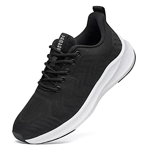 Zapatillas de Running para Mujer Zapatos para Correr Gimnasio Deporte Sneakers Ligero Deportivas Zapatos Casuales de Hombre Deportes Calzado Transpirable Negro 37