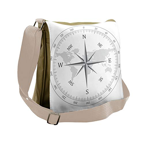 Lunarable Compass Messenger Bag, Naval Marine Seaman Life, Unisex Cross-body