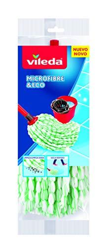 Vileda Mopp, Microfiber, Weiß/Grün, Einheitsgröße
