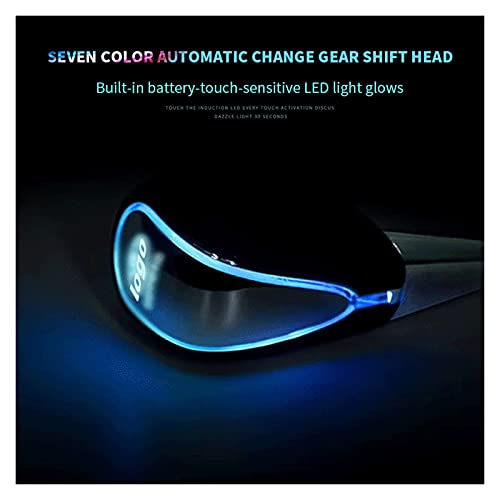 GXIXI Store La Perilla de Cambio iluminada con iluminación Ultra Azul de 110 mm Universal se Adapta a la Mando de Cambio iluminada para la mayoría de los automóviles con Cambios operados con Botones