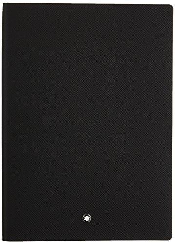 Montblanc Notebook 113294 Fine Stationery #146 – Leder Notizbuch A5 liniert mit Softcover – Farbe: Black – 192 Seiten