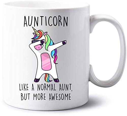VIROSA Aunticorn Mug Auntie Unicorn Aunt Aunty Funny Mug Present