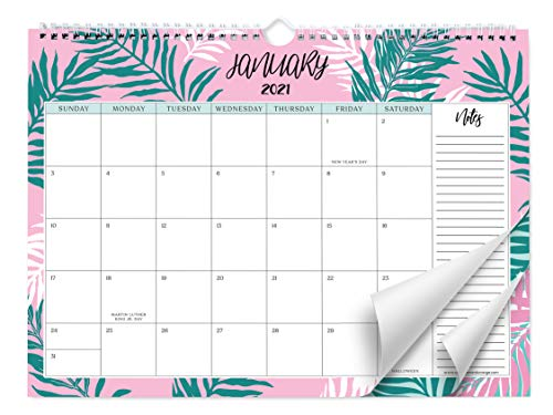 Sweetzer & Orange 2021 Calendar. 18 Month Office or Family Wall Calendar 2020-Dec 2021 - Leafy Design Monthly Planner, Daily Wall Calendars for Office Organization. 11.5 x 15 Inch Hanging Wall