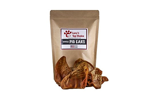 Lucy's Top Choice Made in USA #1 Large Smoked 100% All Natural Whole Pig Ears