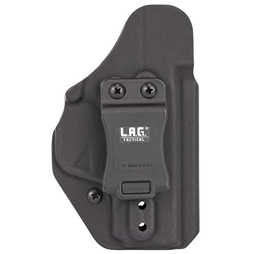 L.A.G. TACTICAL, INC Liberator MK II, Holster, Ambidextrous, Fits S&W M&P Shield 9/40, Kydex, Black Finish