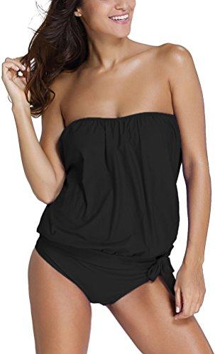 OLIPHEE Mare e Piscina Sportivo Tankini Bikini Donna Moda Due Pezzi Costume...