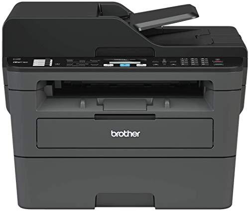 Brother MFC-L2710DN Stampante Multifunzione Laser 4 in 1 Bianco e Nero, Velocità di Stampa 30 ppm, Scheda di Rete Cablata (no WiFi), Stampa Fronte/Retro automatica, ADF da 50 Fogli, Display LCD