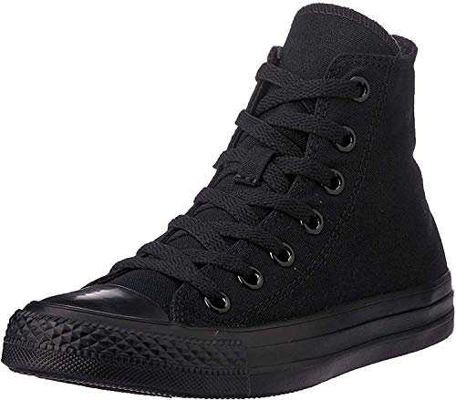 Converse Allstar Hi Mono Leinen Sneaker, - Black (Black Mono) - Größe: 43 EU