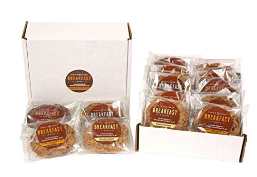 Susie's Smart Breakfast Cookie -- Healthy Omega-3s and Protein Rich -- Soft, chewy, home-baked Taste -- Vegetarian (Mixed Box of 12)