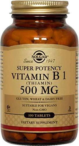 Solgar Vitamin B1 (thiamin) 500 Mg, 100 Vegetable Tablets, 100 Count (Pack of 12)