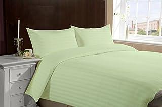 Lasin Bedding, Hotel Collection 100% Super Soft Cotton 3pcs Duvet Cover Pillow Case Sheets Bedding Set, Queen/Full, Green