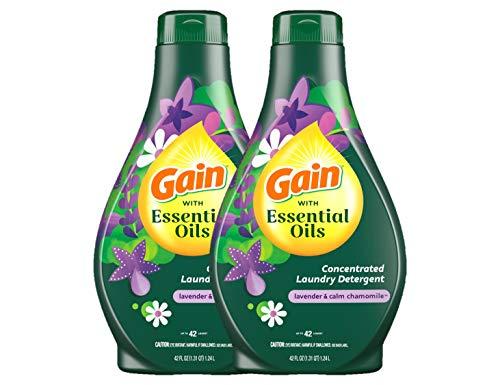 Gain with Essential Oils Liquid Laundry Detergent,...