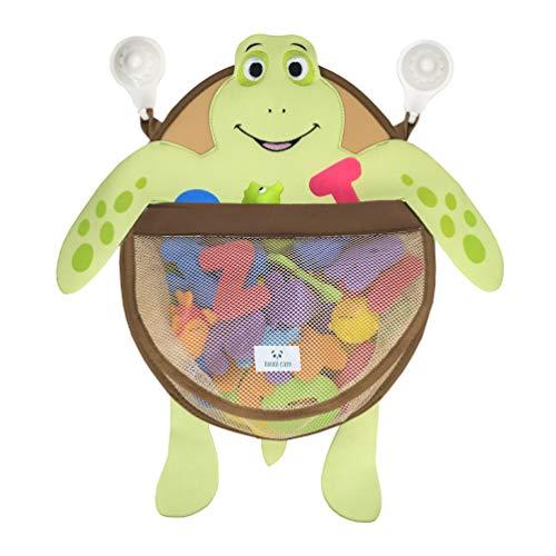 Nooni Care Bad Spielzeug Aufbewahrung, Premium Kinder Bad Spielzeugkorb Schildkröte, mit Zwei starken Saugnäpfen