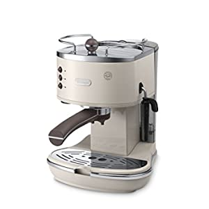 De'Longhi Icona Vintage ECOV 311.BG, Macchina per caffè espresso manuale,  Portafiltro per 1 o 2 tazze,1100 W, Plastica, Beige