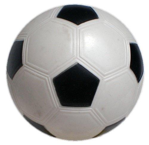 【マイカラーボール】 (6インチ/直径15㎝) カラーサッカーボール (凹凸ナシ) (通常色) (1個セット) (白)