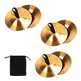 beliof 6 pz piatti per dita danza del ventre danza dito zills piatti per dita a percussione strumento musicale in ottone accessori da ballo per ballerino ball party