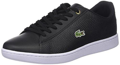 Lacoste Herren Carnaby Evo 118 2 SPM Sneaker, Schwarz (Blk/lt Tan), 43 EU