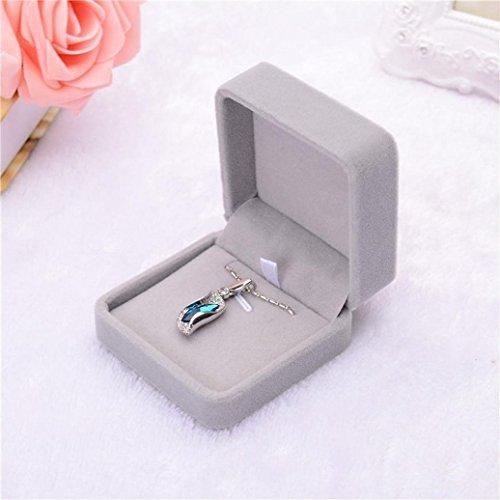 bodhi2000joyas caja de regalo de terciopelo anillo collar pulsera pantalla caso, # B, talla única