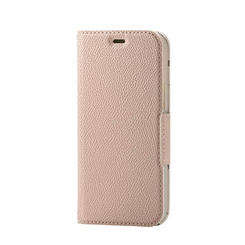 エレコム iPhone 12 mini ケース ソフトレザー 薄型 女子向 磁石付 スモーキーピンク PM-A20APLFUJPNL