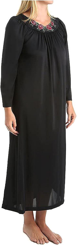 Shadowline Women's Plus-Size Petals 53 Inch Sleeve Long Gown