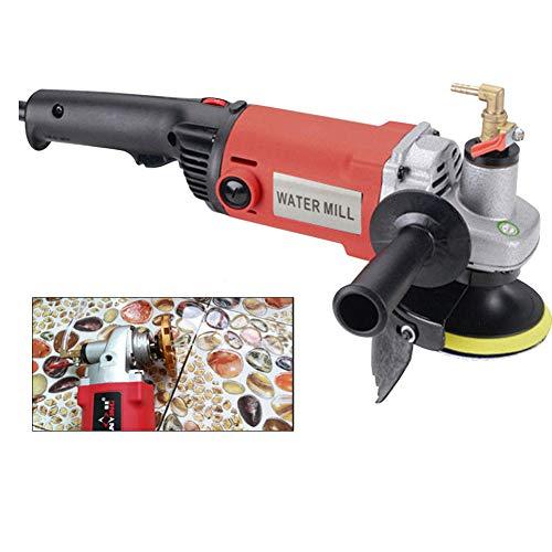 SENDERPICK Professional 1400W Nass-Polierer, elektrischer Stein-Nass-Polierer mit variabler Geschwindigkeit Wassermühle für Marmor, Zementfliese, Granit, Terrazzo