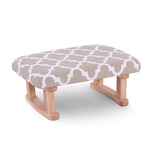 ZXQZ Tabouret en bois, tabouret de dressing avec coussin en coton pour enfants adultes, salon, chambre, petit banc 15x10x6inch (Couleur : Flower window)