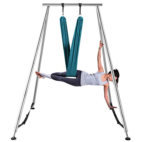 Big Save! LOVSHARE Yoga Sling Inversion 68lbs 731lbs Inversion Yoga Swing Stand 551lbs/250kg Aerial ...