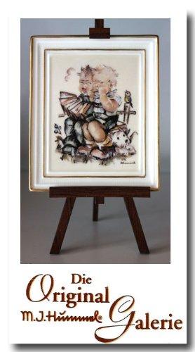 The Original M. J. Hummel Gallery ** Musikanten ** 350011 - mit Zertifikat, Handbemalt, Porzelan Bild mit Staffelei