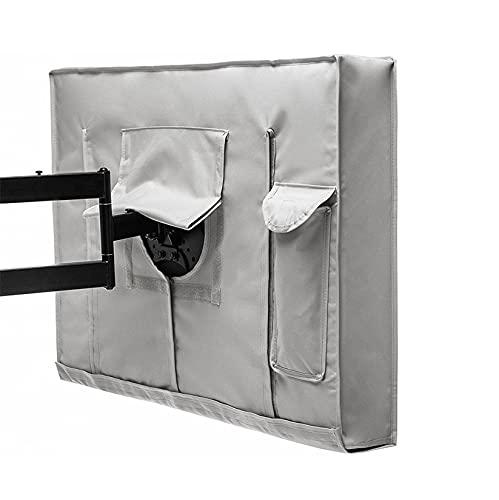 Cobertura Completa Funda Para Televisor De Exterior, Impermeable Antipolvo Protector De TV Universal Protector De Muebles Sello Inferior 100% Oxford Funda TV -30-32 pulgada-gris