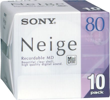 SONY MD80 Minidisc Neige 80 Minute Pack 10